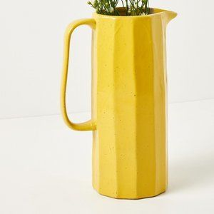 Ventura Yellow Tall Pitcher ANTHROPOLOGIE